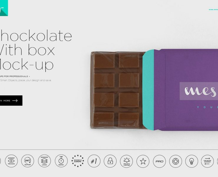 24+ Chocolate Box Mockup PSD Free Download