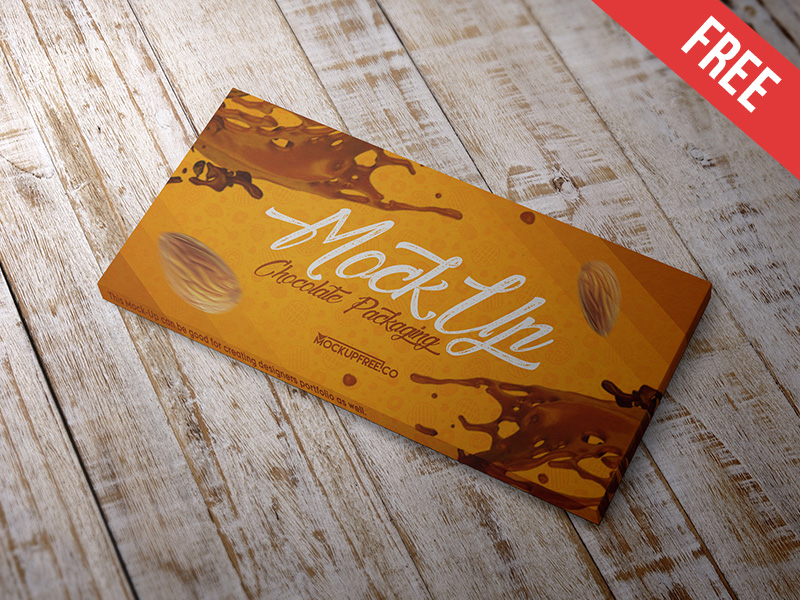 Chocolate Packaging Mockup PSD Free
