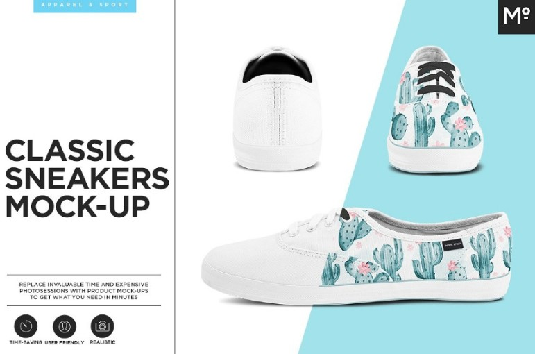 Classic Sneakers Mockup PSD