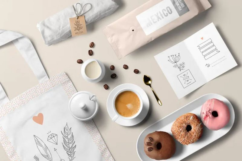 Coffee Branding Set Mockup