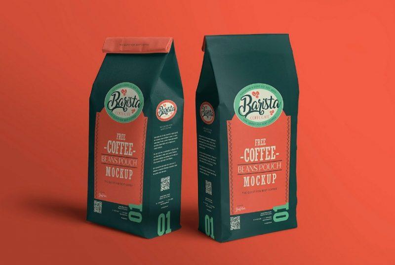 32+ Best Free Coffee Packaging Mockup PSD