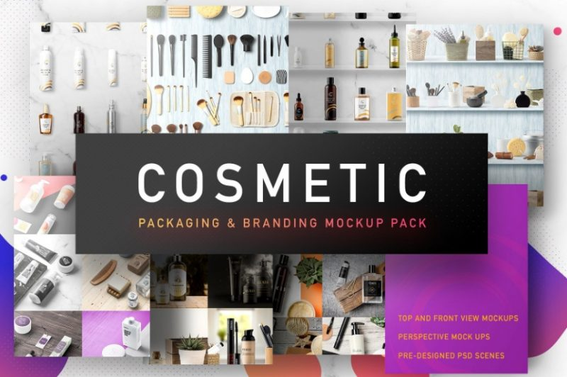 Cosmetics Packaging and Branding Mockup
