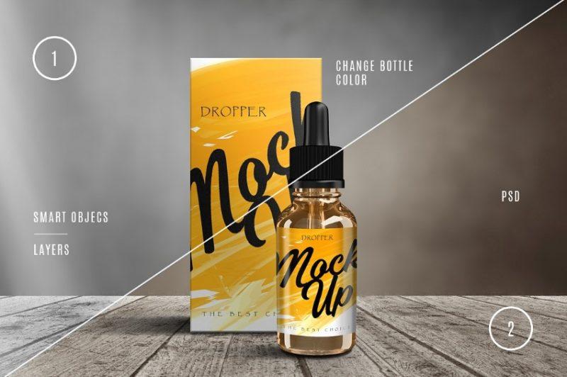 Creative Dropper Bottle Mockup