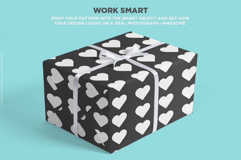 Creative Gift Box Mockup PSD