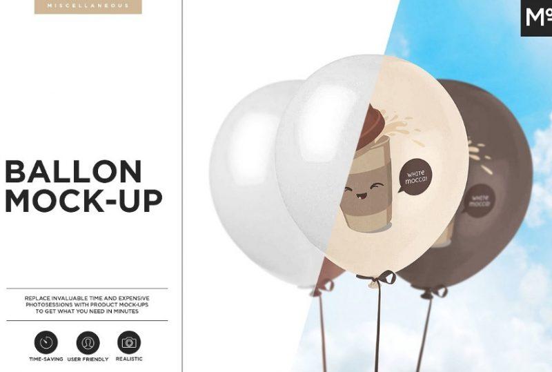 Customizable Balloon Mockup PSD