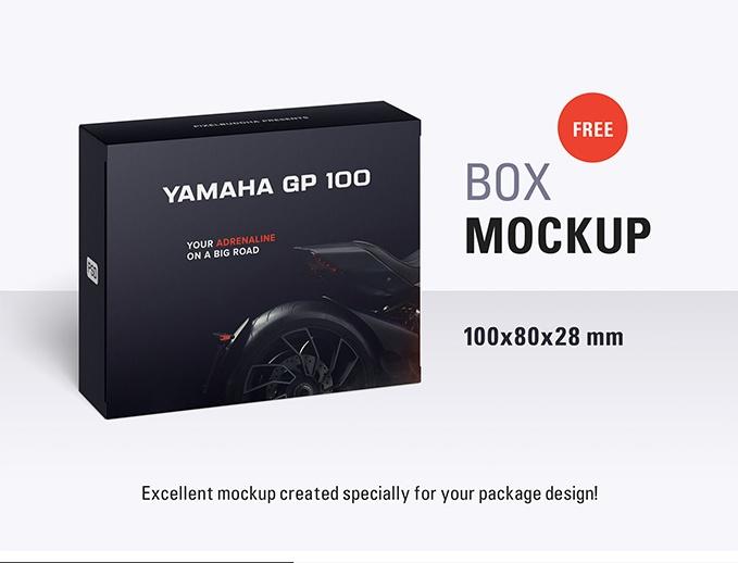 Customizable Box Packaging Mockup