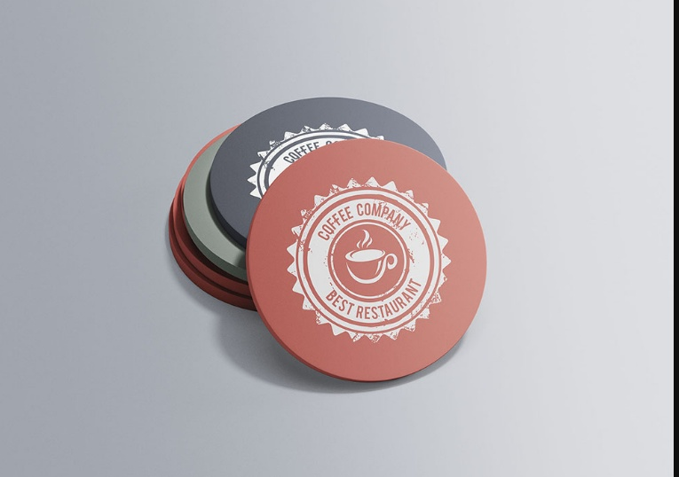 Customizable Coaster Mockup PSD Free