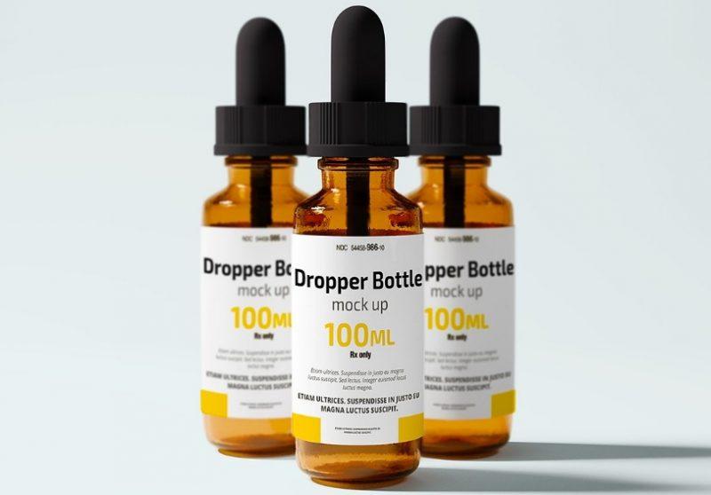 Customizable Dropper Bottle Mockup