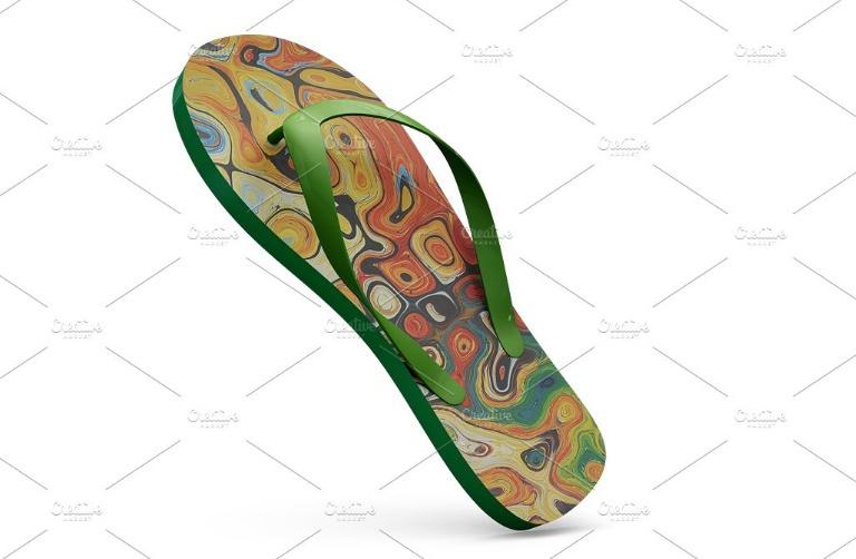 Customizable Flip Flops Mockup