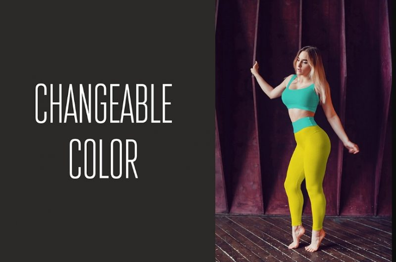 Customizable Leggings Mockup PSD