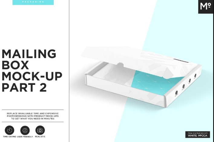 Customizable Mailing Box Mockup