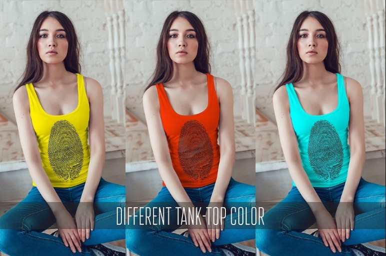 Customizable Tank Top Mockup PSD