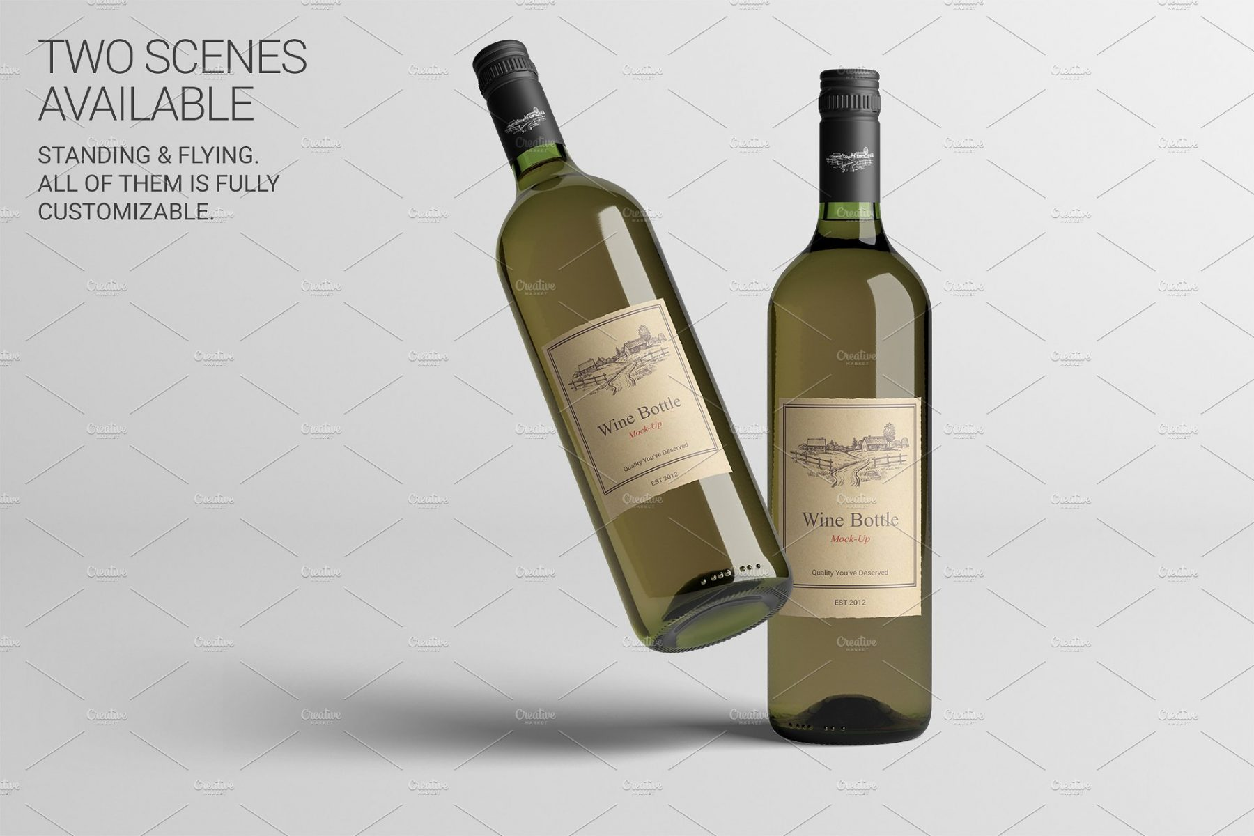 Customizable Wine Label Mockup