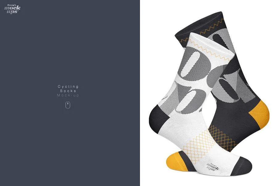 Cycling Socks 3 Types Mockup
