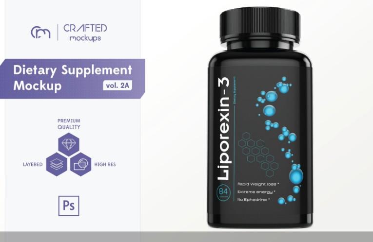 Dietry Supplement Branding Mockup