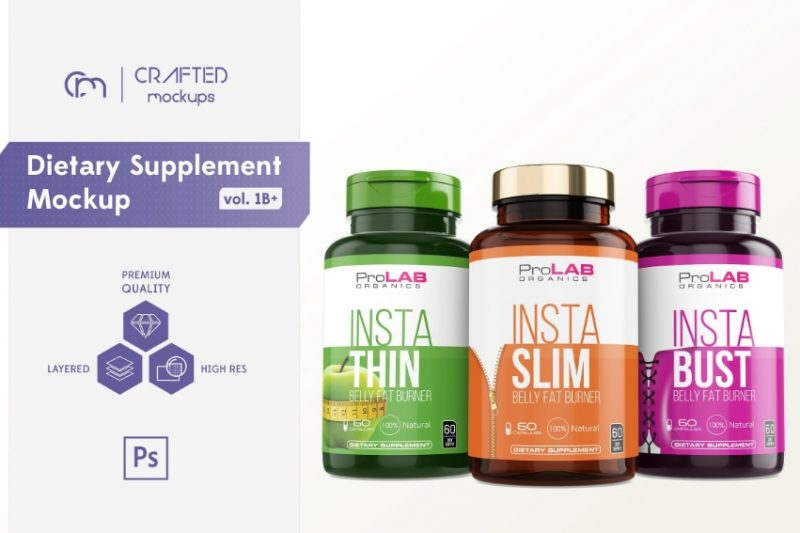 Dietry Supplement Mockup PSD