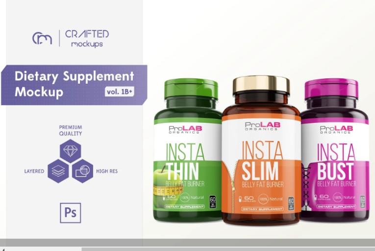 15+ Supplement Bottle Mockup PSD Free Download
