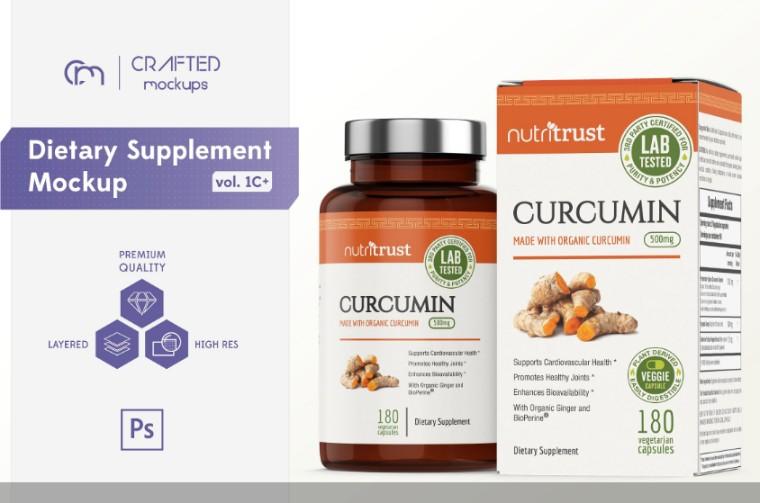 Dietry Supplements Packaging Mockup