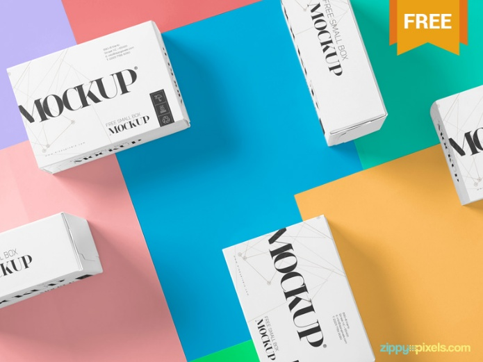 Different Boxes Packaging Mockup