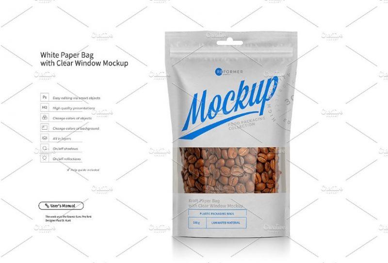 Doypack Coffee Packaging Mockup