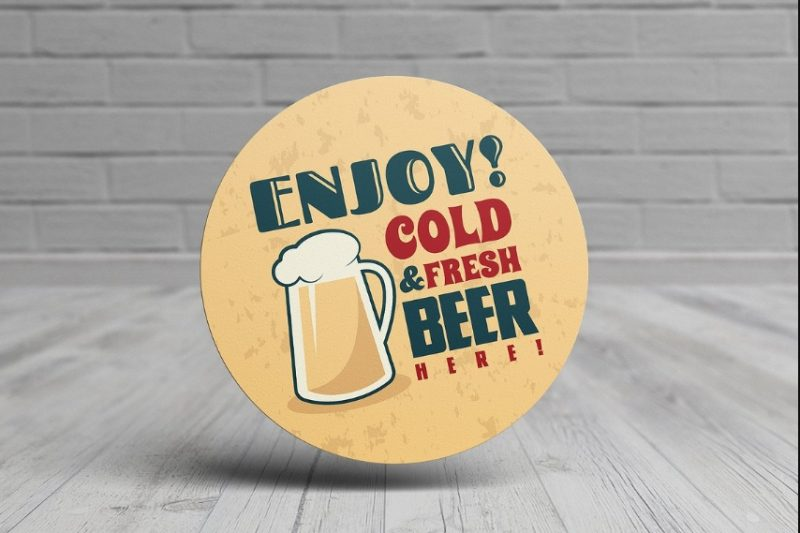 Drinks Coaster Mockup PSD