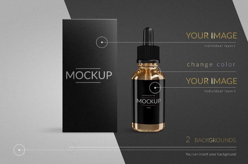 E Liquid Bottle Mockup PSD
