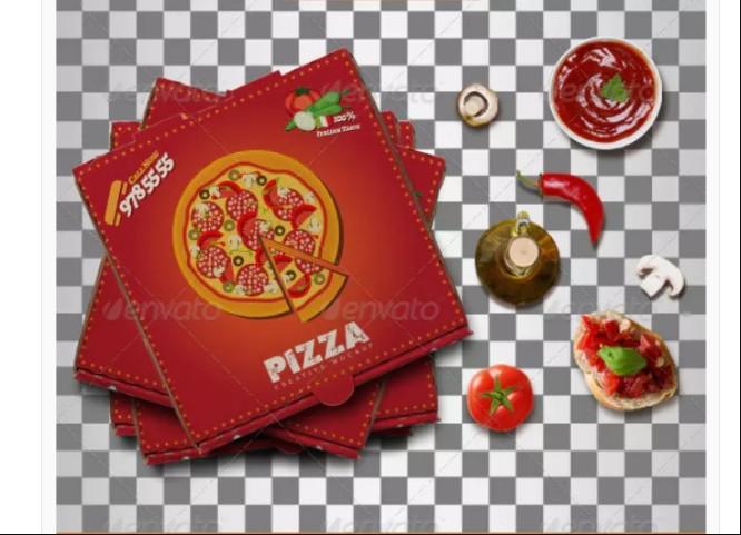 Easy Editable Pizza Box Mockup