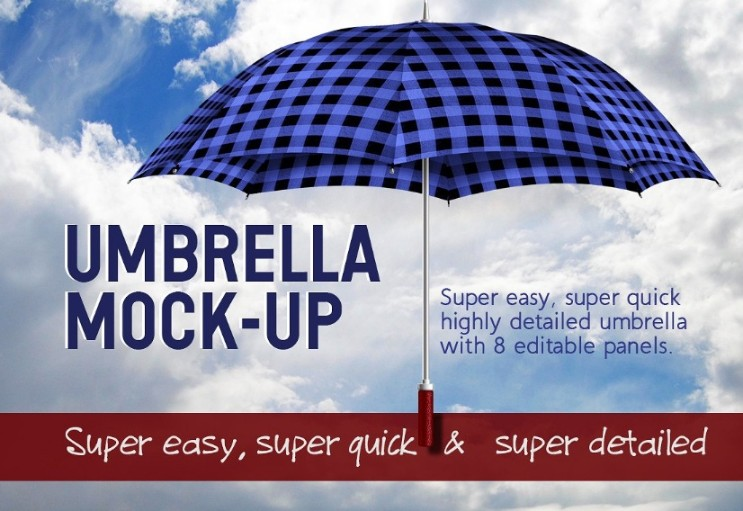 Easy Editable Umbrella Mockup