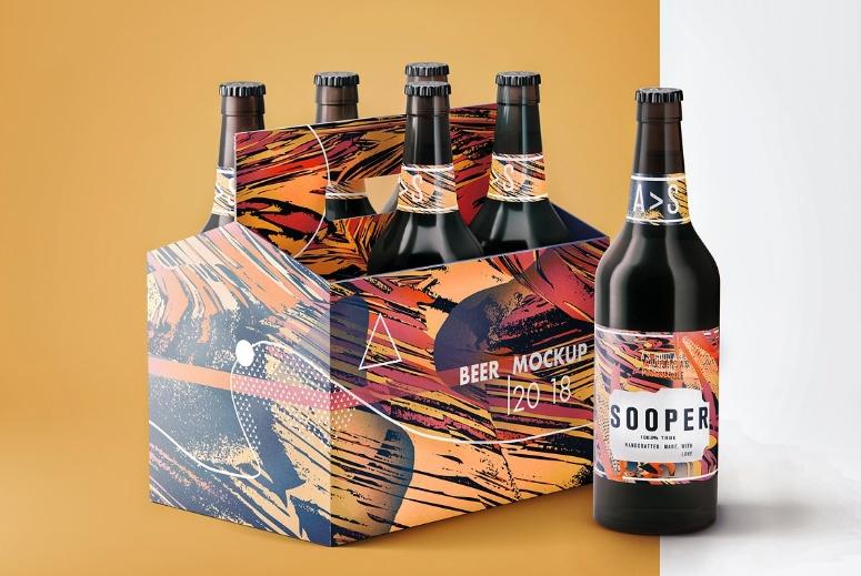 Editable Beer Branding Mockup