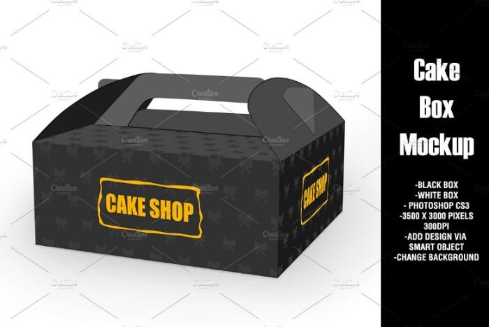 Editable Cake Box Mockup