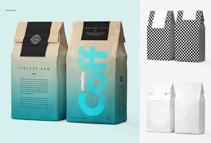 Editable Coffee Packaging Mockup