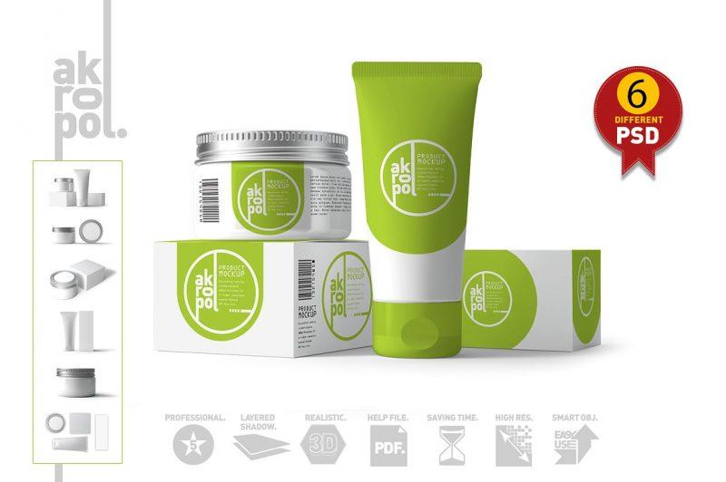 Editable Cosmetics Branding Mockup