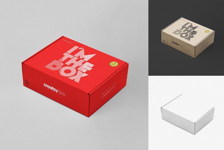Editable Mailing Box Mockup PSD