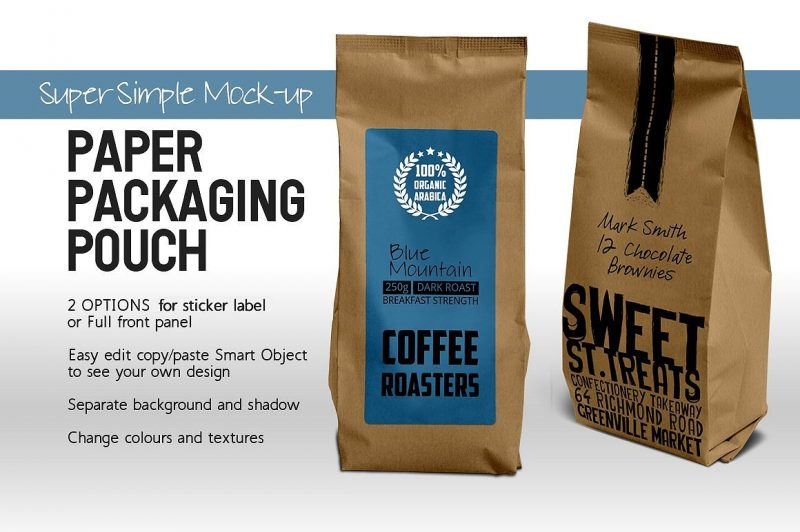 Editable Paper Bag Packaging Mockup