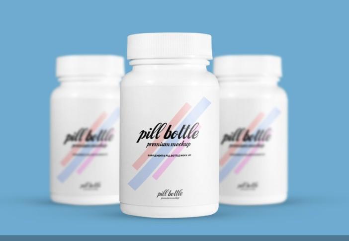 Editable Pills Bottle Mockup