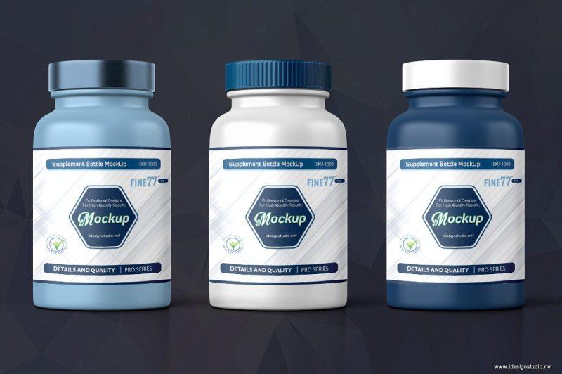 Editable Supplement Bottle Mockup