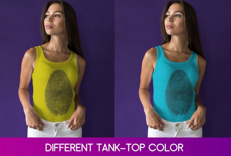 Editable Tank Top Mockup PSD