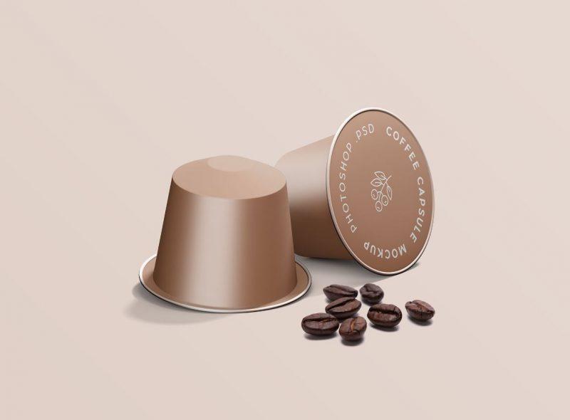 Espresso Coffee Capsule Mockup