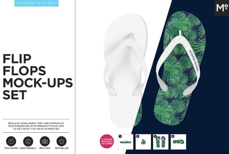 Flip Flops Mockup Set