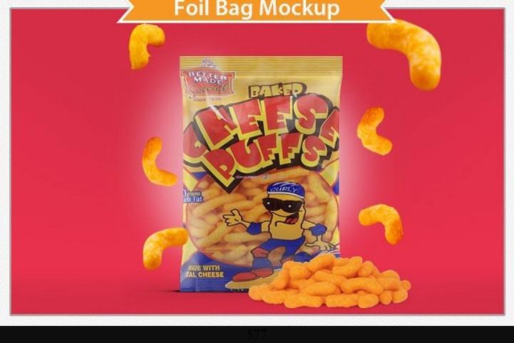 Foil Bag Mockup PSD