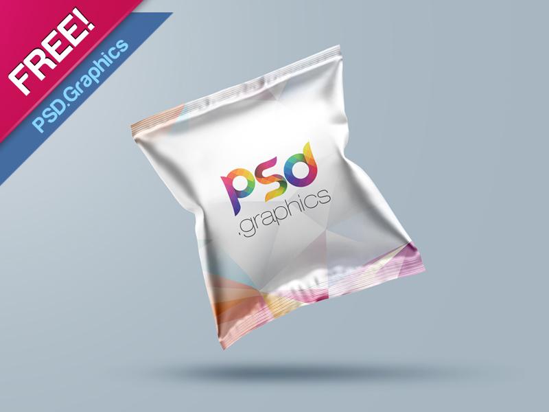 Foil Snack Packaging Mockup Free