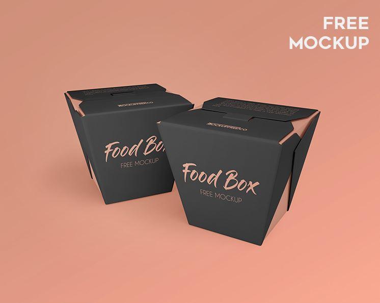 Food Box – 2 Free PSD Mockups