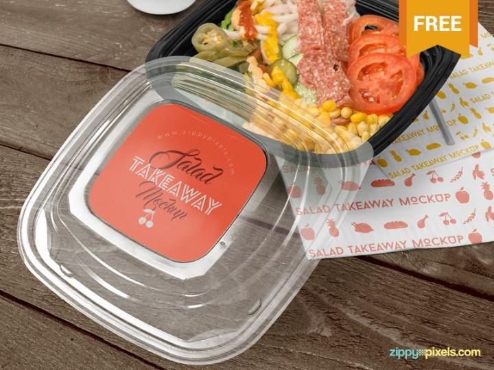 Food Box Branding Mockup Free