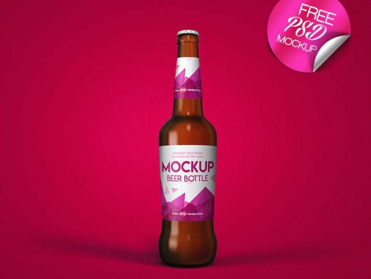 Free Beer Branding Mockup PSD