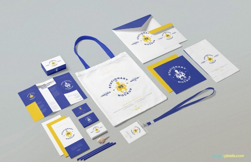 Free Business Stationary Mockup PSD