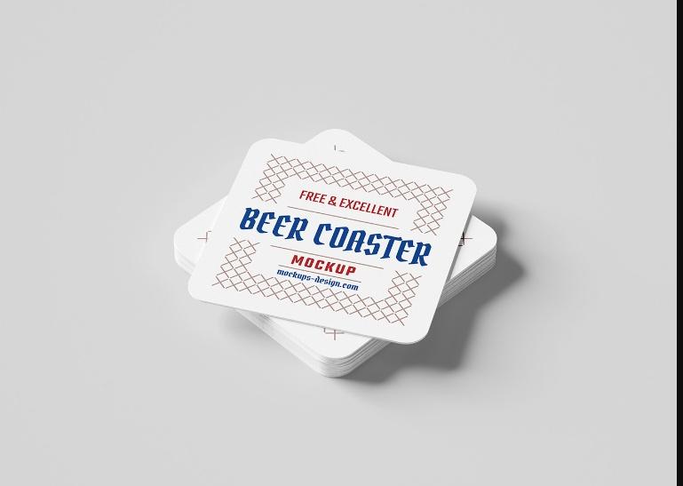 Free Coaster Mockup PSD