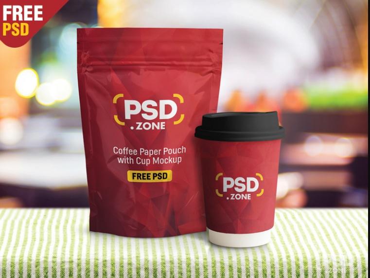 Free Coffee Packaging Mockup PSD