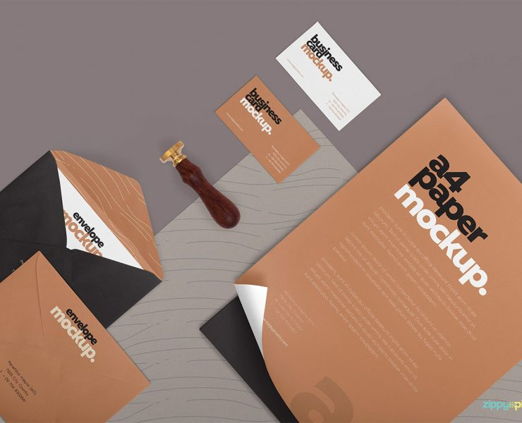 Corporate Stationary Mockup PSD Free Download