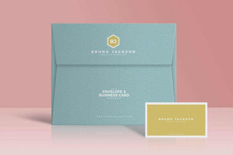 Free Envelope and Business Card Mockup
