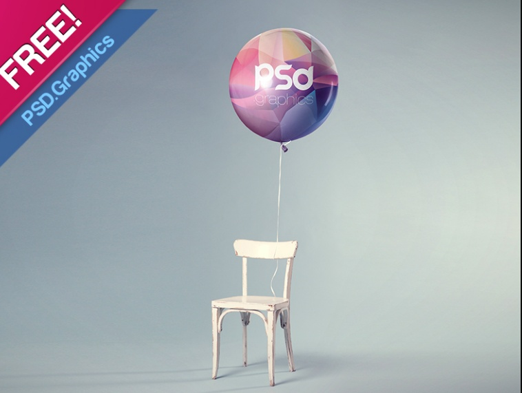 Free PSD Balloon Mockup